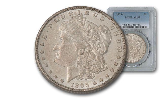 1895-S Morgan Silver Dollar PCGS AU55