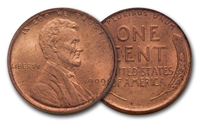 1909-P 1 Cent Lincoln BU