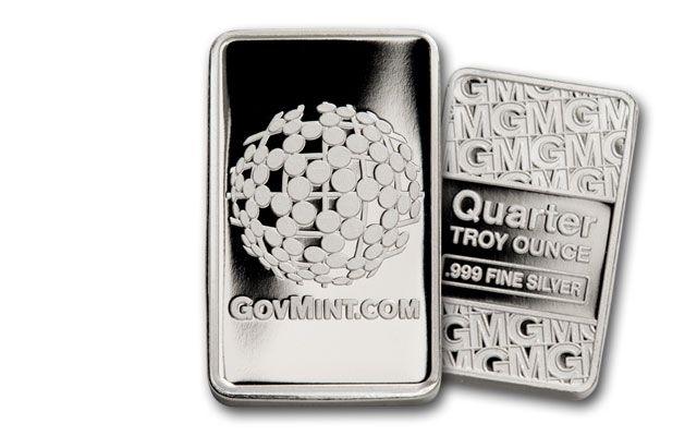 GovMint 1/4-oz Silver Ingot