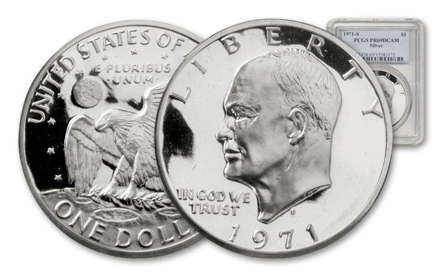1971-S 1 Dollar Eisenhower PCGS PR69DCAM
