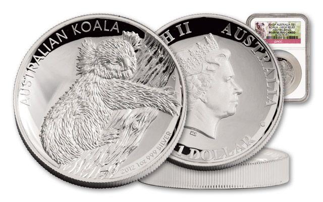 Australia 2012 1-oz Silver Koala High Relief PF69