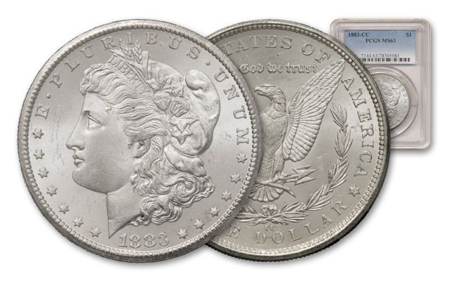 1883-CC 1 Dollar Morgan NGC-PCGS MS63