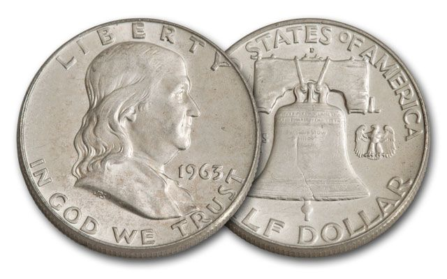 1963-D Half Dollar Franklin BU