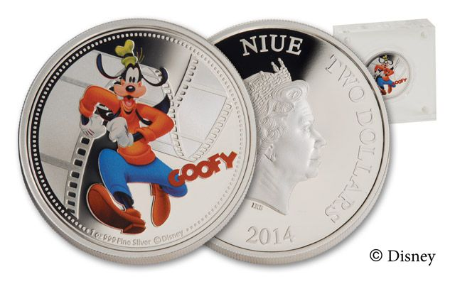 2014 Niue 1-oz Silver Goofy Proof