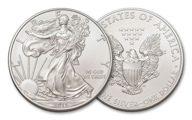 2015 1 Dollar 1-oz Silver Eagle BU