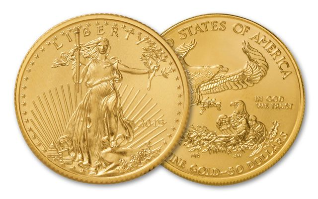 2015 50 Dollar 1-oz Gold Eagle BU