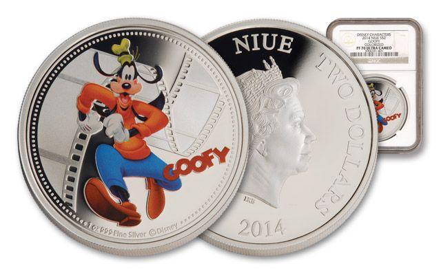 2014 Niue 1-oz Silver Disney Goofy NGC PF70UCAM