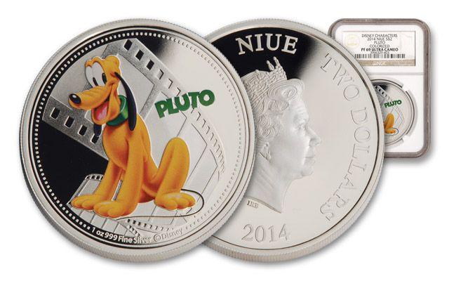 2014 Niue 1-oz Silver Disney Pluto NGC PF69UCAM