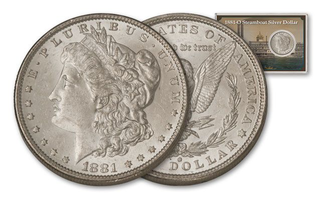 1881-O 1 Dollar Morgan Steamboat BU