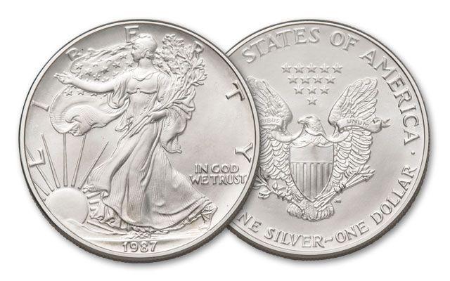 1987 1 Dollar 1-oz Silver Eagle BU