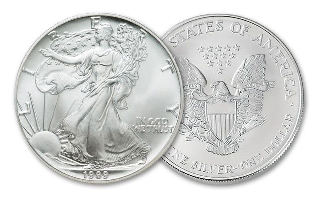 1989 1 Dollar 1-oz Silver Eagle BU