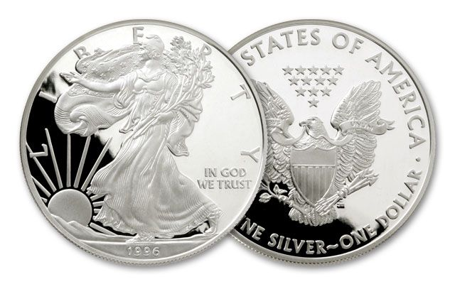1996 1 Dollar 1-oz Silver Eagle Proof