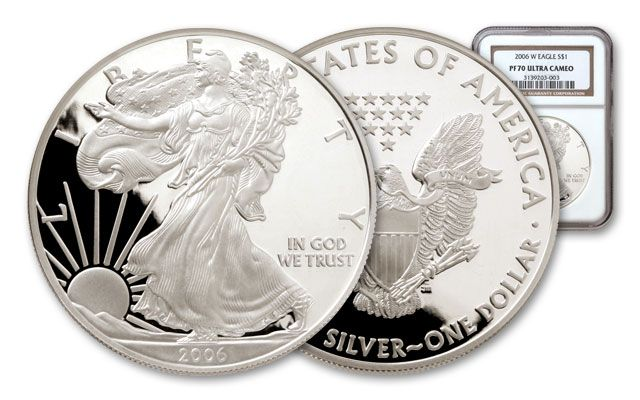 2006 1 Dollar Silver Eagle NGC/PCGS Proof 70