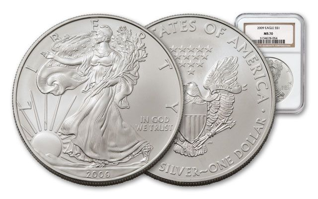 2009 1 Dollar Silver Eagle NGC MS70