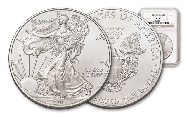 2012 1 Dollar Silver Eagle NGC MS70