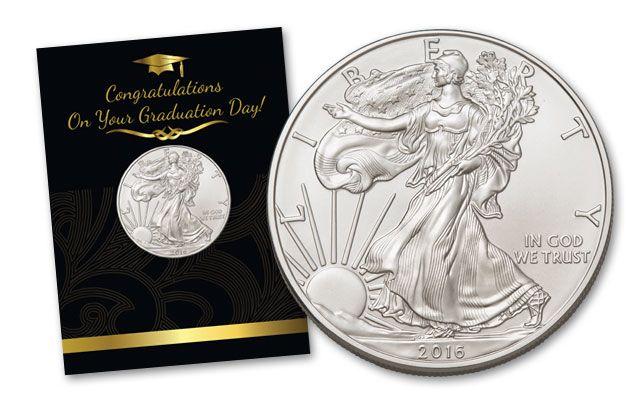 2016 1 Dollar 1-oz Silver Eagle BU Graduation Coin Pack