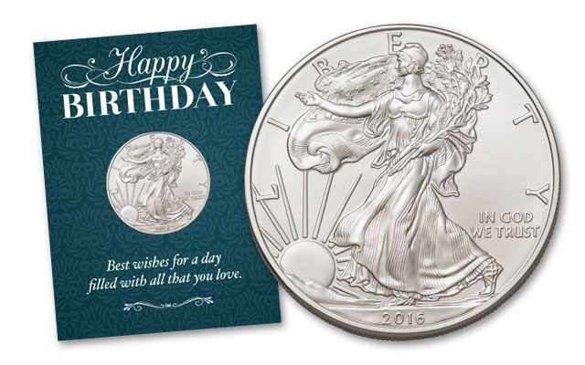 2016 1 Dollar 1-oz Silver Eagle BU Birthday Traditional