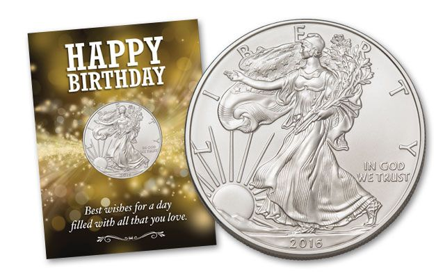 2016 1 Dollar 1-oz Silver Eagle BU Birthday Burst