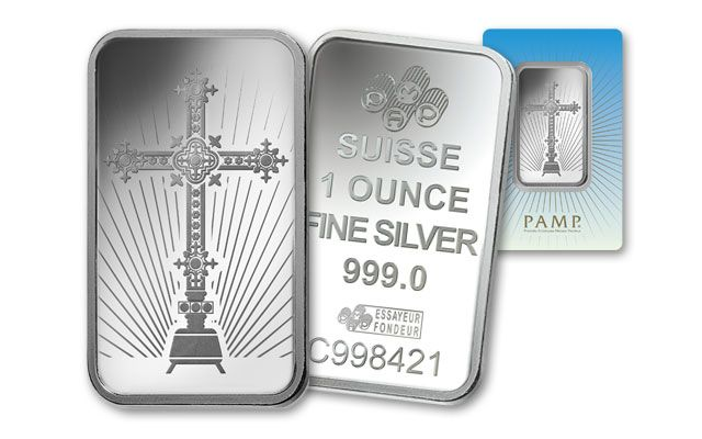 PAMP Suisse 1-oz Silver Cross Bar