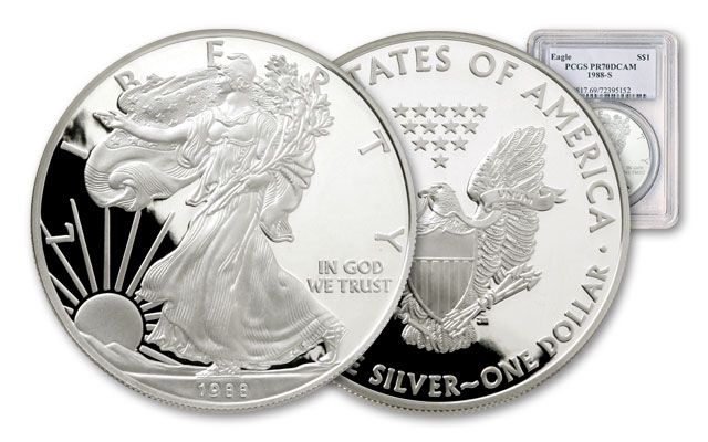 19881 Dollar 1-oz Silver Eagle Proof NGC/PCGS PF70