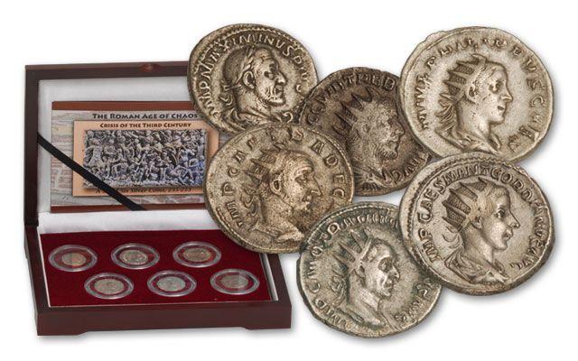 235-253CE Silver Roman Age of Chaos Set 6pc