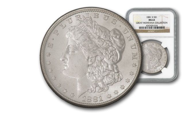 1881-S Morgan Silver Dollar NGC MS63 - Great Montana Collection