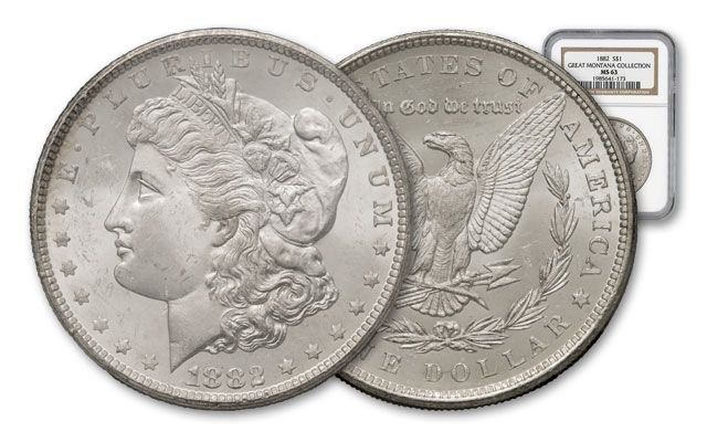 1882-P Morgan Silver Dollar NGC MS63 - Great Montana Collection