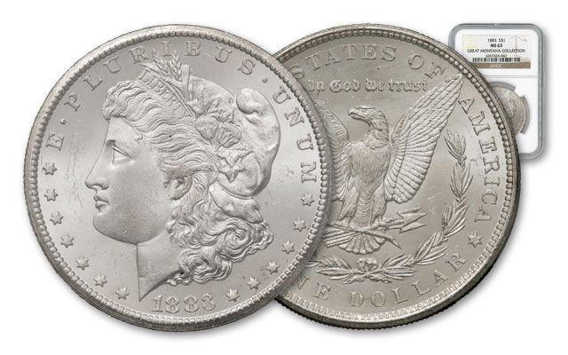 1883-P Morgan Silver Dollar NGC MS63 - Great Montana Collection