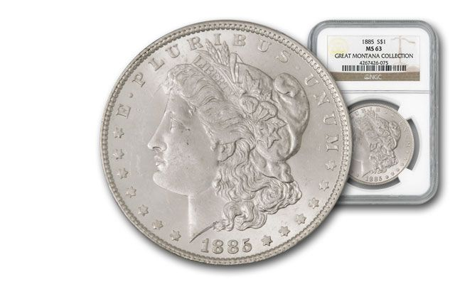 1885-P Morgan Silver Dollar NGC MS63 - Great Montana Collection