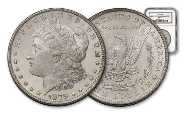 1879-S Morgan Silver Dollar NGC MS64 – Great Montana Collection
