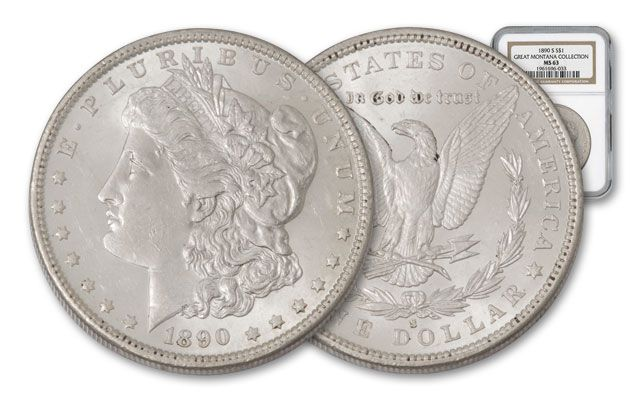1890-S Morgan Silver Dollar NGC MS63 - Great Montana Collection