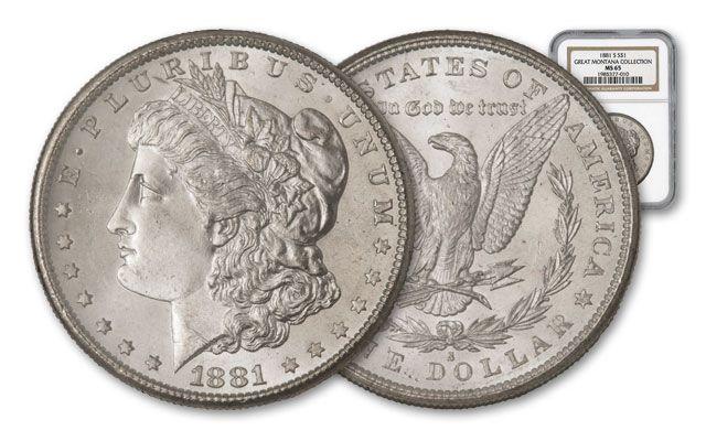1881-S Morgan Silver Dollar NGC MS65 - Great Montana Collection