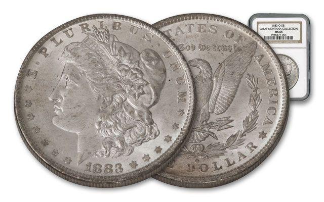 1883-O Morgan Silver Dollar NGC MS65 - Great Montana Collection