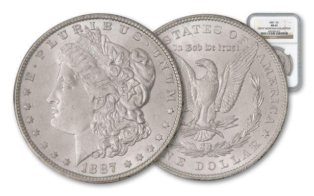 1887-P Morgan Silver Dollar NGC MS65 - Great Montana Collection