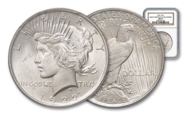 1922 Montana Collection Peace Silver Dollar MS63