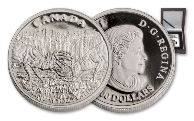 2015 Canada 1-oz Platinum White-Tailed Deer - A Challenge NGC PF70UCAM