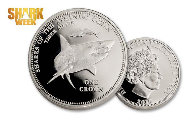 2015 1-oz Silver Tiger Shark Proof-Like