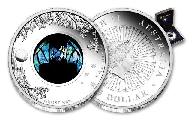 2015 Australia 1 Dollar 1-oz Silver Ghost Bat Opal Proof
