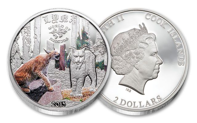 2015 2 Dollar Half Ounce Silver Lynx Proof