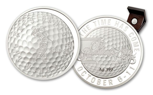 2015 South Korea Silver Medal Presidents Cup Commemorative Proof