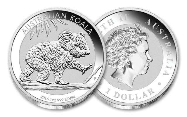 2016 Australia 1-oz Silver Koala Uncirculated