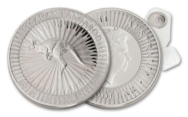 2016 Australia 1-oz Silver Kangaroo BU Mint Roll - 25 Coins