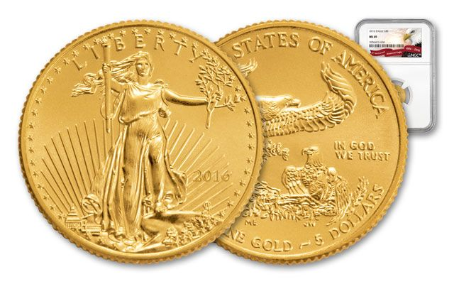 2016 5 Dollar 1/10-oz Gold Eagle  MS69