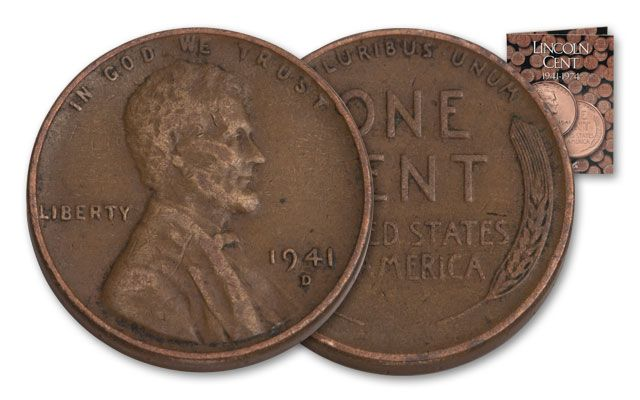 1941-1958 1 Cent Lincoln Collection