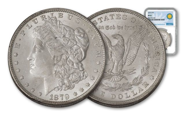 1879-S Morgan Silver Dollar MS65