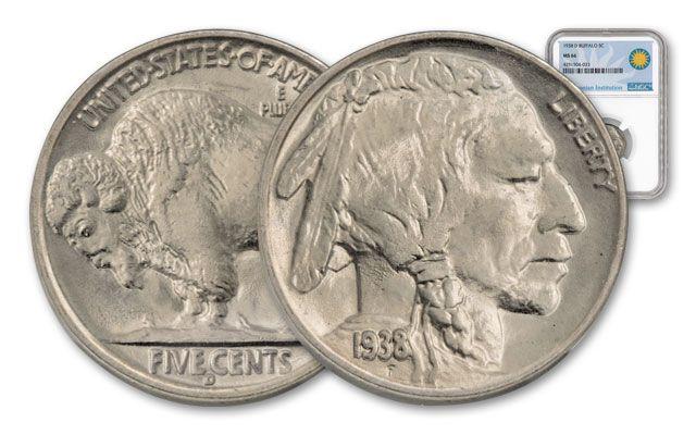 1938-D Buffalo Nickel NGC MS66 Smithsonian Coin Classics