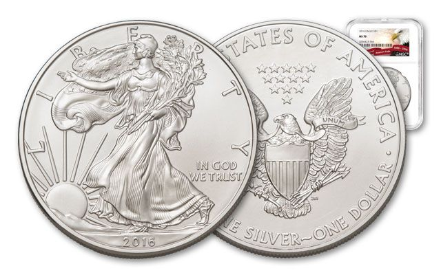 2016 1 Dollar 1-oz Silver Eagle NGC MS70