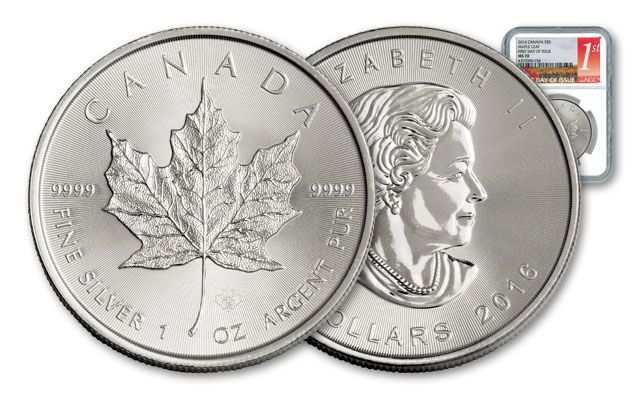 2016 Canada 5 Dollar 1-oz Silver Maple Leaf NGC MS70 FDI