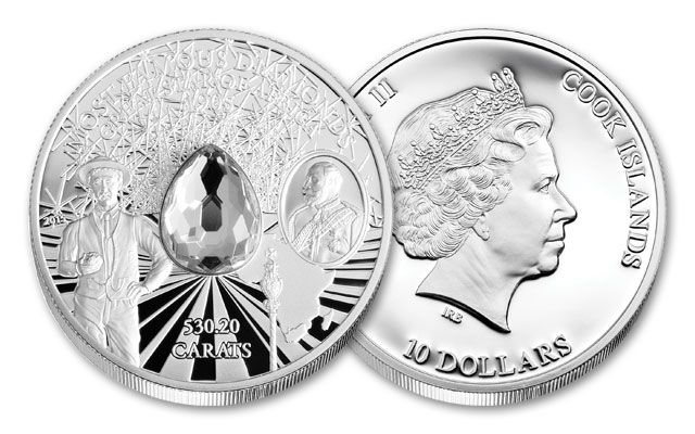 2015 Cook Islands 2-oz Silver Star of Africa Proof