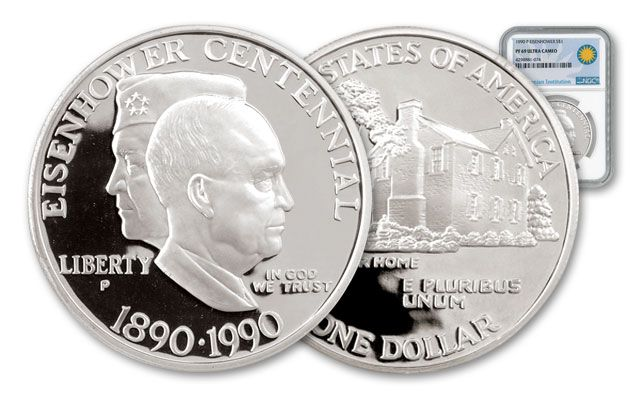 1990-P Eisenhower Dollar Centennial NGC PF69 Smithsonian Coin Classics